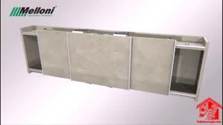 مکانیزم تاپ لاین  روکار سه درب ملونی