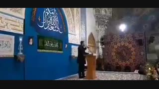 مدیحه سرایی محمد حسین پویانفر در مراسم جشن شب میلاد امام محمد باقر علیهالسلام
