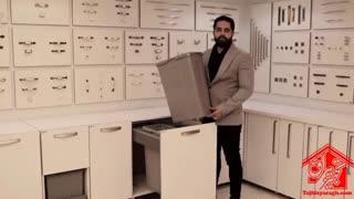 سطل زباله داخل کابینت ملونی کد 9006