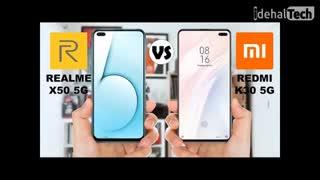 مقایسه گوشی Realme X50 pro 5G و گوشی ردمی K30 5G