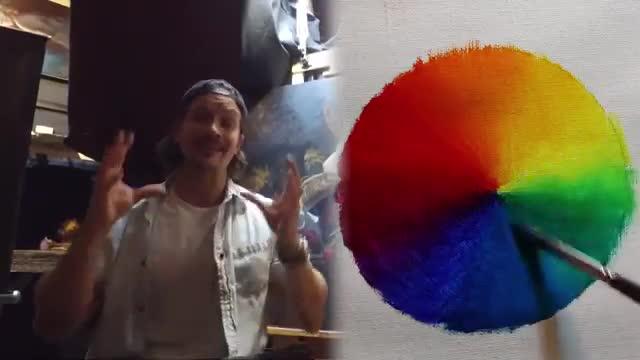 آموزش ترکیب رنگها در نقاشی
