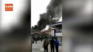 آتش سوزی هتل ادریس مشهد