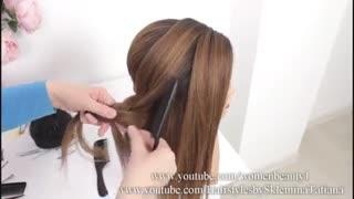 آموزش مدل مو دخترانه بافت روان- مومیس مشاور و مرجع تخصصی مو