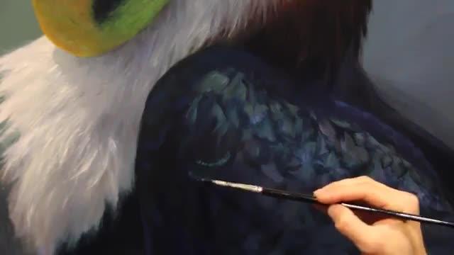 آموزش نقاشی پرهای پرندگان