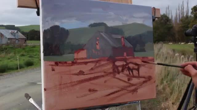 آموزش نقاشی سریع در فضای باز