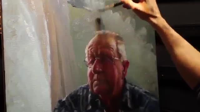 آموزش نقاشی پرتره رنگ روغن از روی تصویر عکس