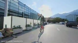 دوچرخه سواری در ارتفاع و عبور از مانع