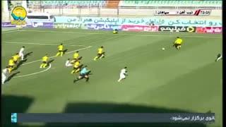 خلاصه بازی نزدیک و حساس سپاهان 1 - ذوب آهن 1 از هفته 21 لیگ برتر ایران