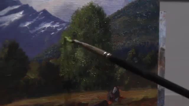 آموزش نقاشی جزئیات یک منظره کوهستانی