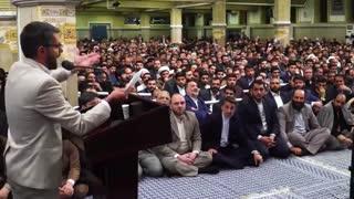 اشعار السید عبدالعظیم النجیفی شاعر عراقی درمحضر رهبر انقلاب