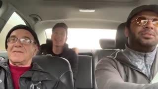 دوربین مخفی رپ خوندن راننده اسنپ جلوی پیرمرد