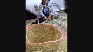 زبیل بافی تولید صنایعدستی گیلان