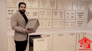 سطل زباله دوقلو داخل کابینت ملونی کد 9003
