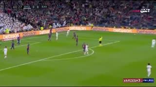 خلاصه بازی رئال مادرید 2 - بارسلونا صفر