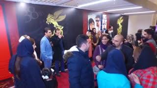محسن ثباتیان در فرش قرمز جشنواره فیلم فجر