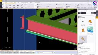 ساخت اتصال تیر به ستون سازه فولادی در Tekla Structure   آموزش تکلا استراکچر