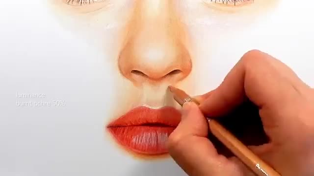 آموزش نقاشی چهره یک زن با مدادرنگی – قسمت ۳