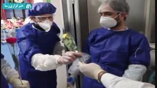 حضور جهادی طلاب و روحانیان در بیمارستان های گیلان