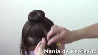 آموزش مدل مو بچه گانه دختر شینیون با بافت پایین- مومیس مشاور و مرجع تخصصی مو