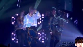 اجرای اهنگ damage از اکسو و break dance سهون در کنسرت ژاپن