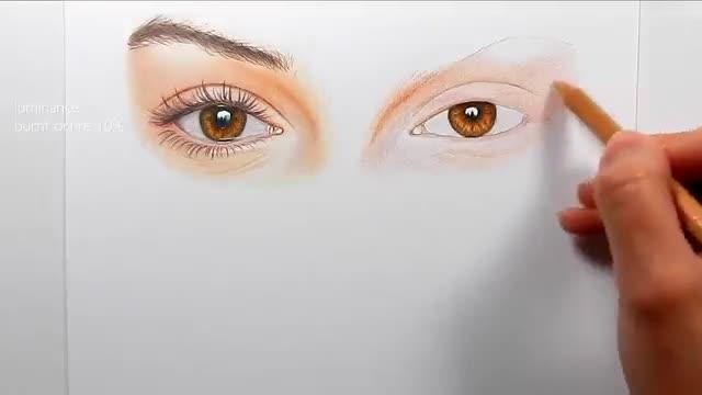 آموزش نقاشی چهره یک زن با مدادرنگی – قسمت ۱