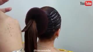 آموزش مدل مو دخترانه بغل پیچ- مومیس مشاور و مرجع تخصصی مو