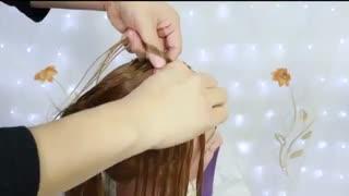 آموزش مدل مو دخترانه با بافت و گره- مومیس مشاور و مرجع تخصصی مو