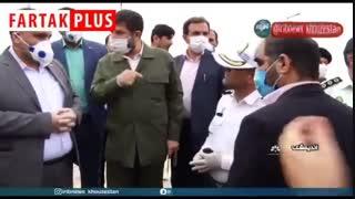 استاندار خوزستان: به رانندهها بگویید هر کس از استان خارج شود، حق برگشتن ندارد!
