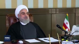 گفتوگوی روحانی با مدیران بیمارستان امام خمینی بصورت ویدئو کنفرانس