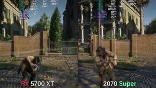 فریم ریت خروجی RX 5700XT و RTX 2070S در حالت DirectX12 و Vulkan در بازی RDR2