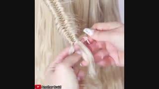آموزش مدل مو دخترانه بافت در بافت- مومیس مشاور و مرجع تخصصی مو