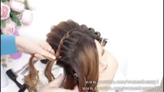 آموزش مدل مو دخترانه مجلسی لاکچری- مومیس مشاور و مرجع تخصصی مو
