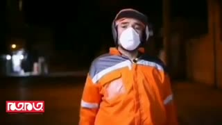 درخواست پاکبان ها از مردم : ماسک و دستکش کف زمین نریزید