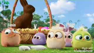 BTS AS ANGRY BIRDS    XD