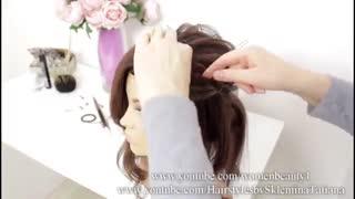 آموزش مدل مو شینیون پهن مجلسی- مومیس مشاور و مرجع تخصصی مو