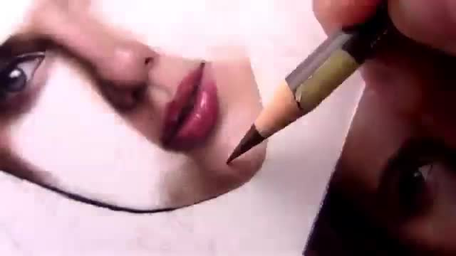 آموزش نقاشی چهره یک زن – قسمت ۲