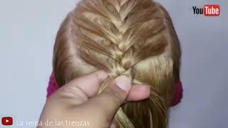 آموزش مدل مو دخترانه بافت موهای جلوی سر- مومیس مشاور و مرجع تخصصی مو