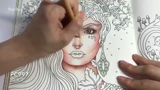 ✅ آموزش نقاشی فانتزی یک شاهزاده خانم با مدادرنگی