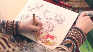 ✅ آموزش نکات مهم در نقاشی گربه ها با مدادرنگی
