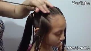 آموزش مدل مو دخترانه خرگوشی یکی شده- مومیس مشاور و مرجع تخصصی مو