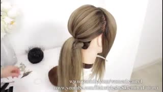 آموزش مدل مو دخترانه جمع حصیری- مومیس مشاور و مرجع تخصصی مو