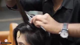 آموزش مدل مو دخترانه جمع برای عروس ۲- مومیس مشاور و مرجع تخصصی مو
