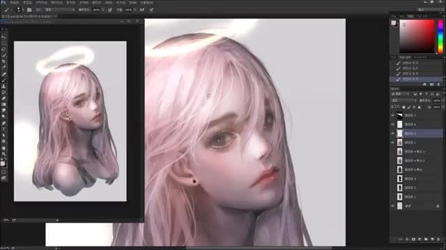 آموزش نقاشی دیجیتال پرتره فانتزی سبک ژاپنی