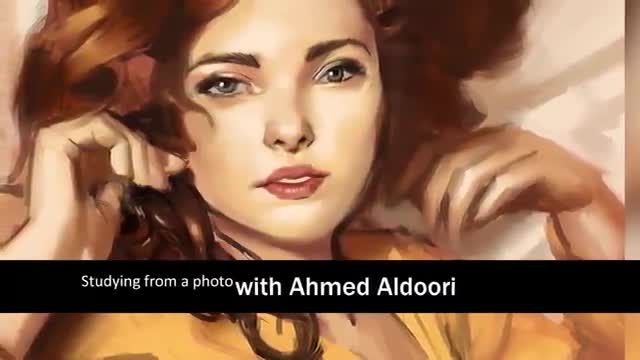 آموزش نقاشی دیجیتال پرتره یک دختر از روی عکس