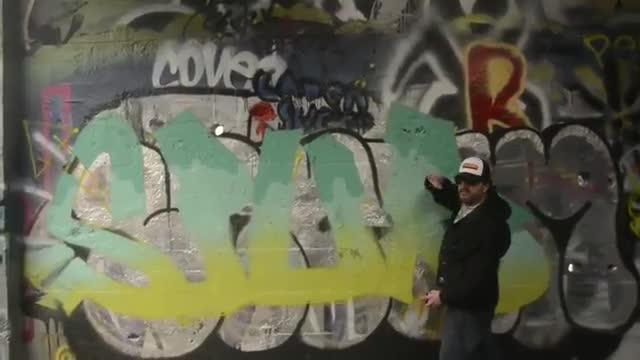 آموزش نقاشی و رنگ آمیزی گرافیتی روی دیوار