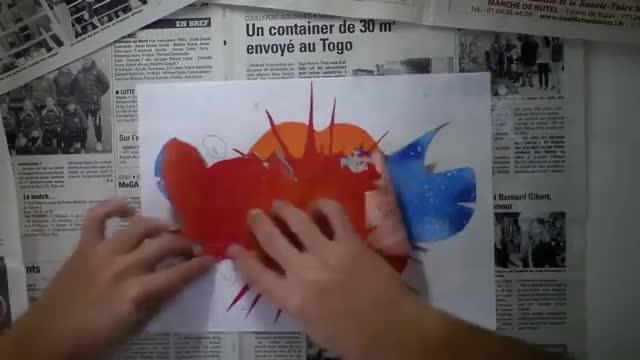 آموزش تمرینی طراحی و نقاشی گرافیتی روی کاغذ