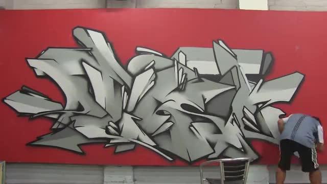 آموزش نقاشی گرافیتی طرح وحشی