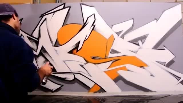 آموزش کنترل جزئیات در نقاشی گرافیتی دیواری