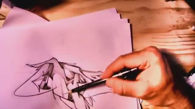 آموزش تمرین حروف خشن در نقاشی گرافیتی روی کاغذ