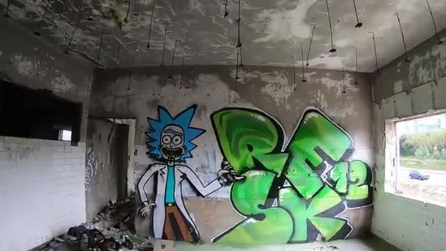 آموزش نقاشی دیواری گرافیتی و کاراکتر به شیوه حرفه ای